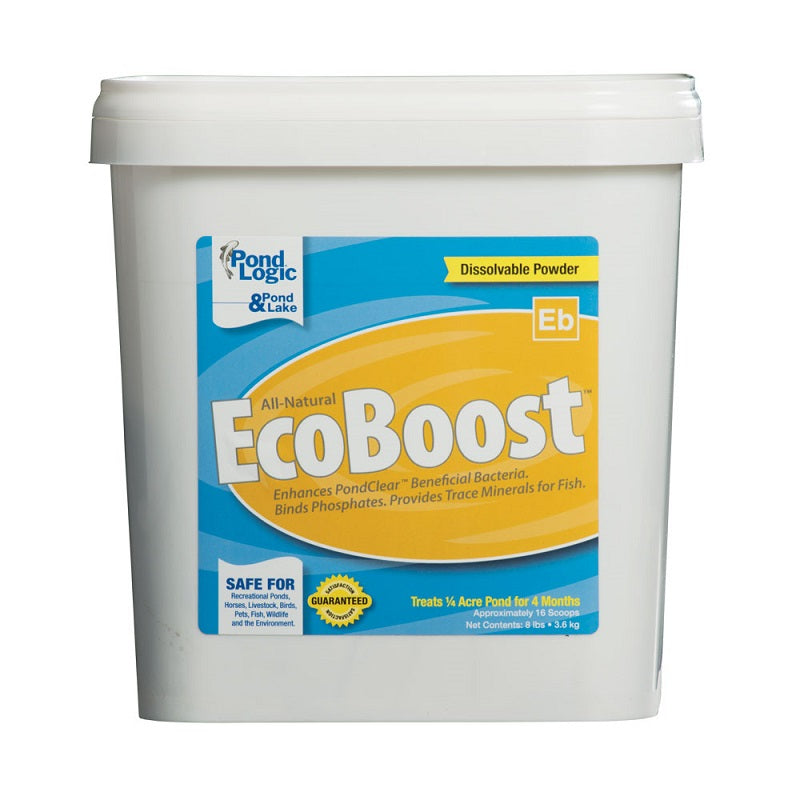 Airmax® Pond Logic® EcoBoost™ Clarity & Natural Bacteria Enhancer, 8 pound bucket