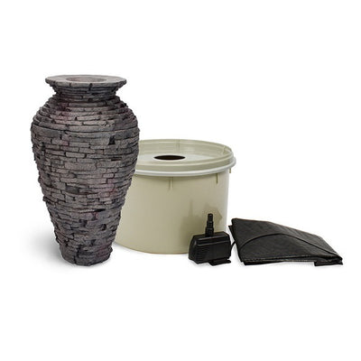 Aquascape® Small Stacked Slate Urn Fountain Kit