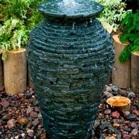 Stacked Slate Fountain made using Aquascape® Small Stacked Slate Urn Kit