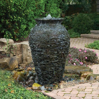 Stacked Slate Fountain made using Aquascape® Medium Stacked Slate Urn Kit