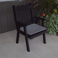 A&L Furniture Co. Amish-Made Pine Royal English Chair, Black