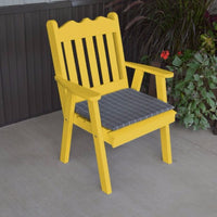 A&L Furniture Co. Amish-Made Pine Royal English Chair, Canary Yellow
