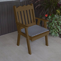 A&L Furniture Co. Amish-Made Pine Royal English Chair, Coffee