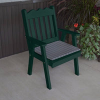 A&L Furniture Co. Amish-Made Pine Royal English Chair, Dark Green