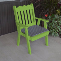 A&L Furniture Co. Amish-Made Pine Royal English Chair, Lime Green