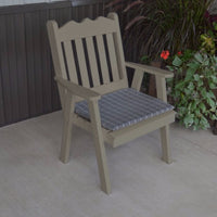 A&L Furniture Co. Amish-Made Pine Royal English Chair, Olive Gray