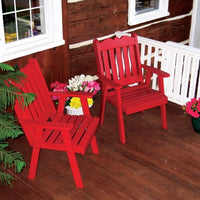 A&L Furniture Co. Amish-Made Pine Royal English Chair, Tractor Red