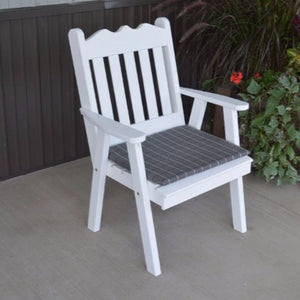 A&L Furniture Co. Amish-Made Pine Royal English Chair, White