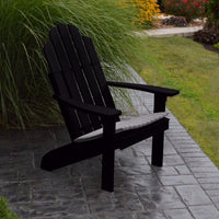 A&L Furniture Amish-Made Pine Kennebunkport Adirondack Chair, Black