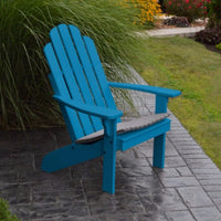 A&L Furniture Amish-Made Pine Kennebunkport Adirondack Chair, Caribbean Blue