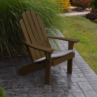 A&L Furniture Amish-Made Pine Kennebunkport Adirondack Chair, Coffee