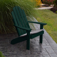 A&L Furniture Amish-Made Pine Kennebunkport Adirondack Chair, Dark Green