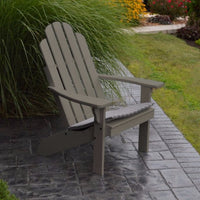 A&L Furniture Amish-Made Pine Kennebunkport Adirondack Chair, Olive Gray