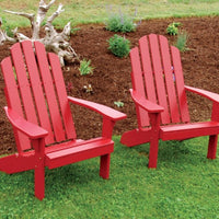 A&L Furniture Amish-Made Pine Kennebunkport Adirondack Chair, Tractor Red