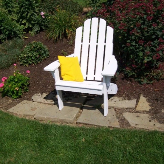 A&L Furniture Amish-Made Pine Kennebunkport Adirondack Chair, White