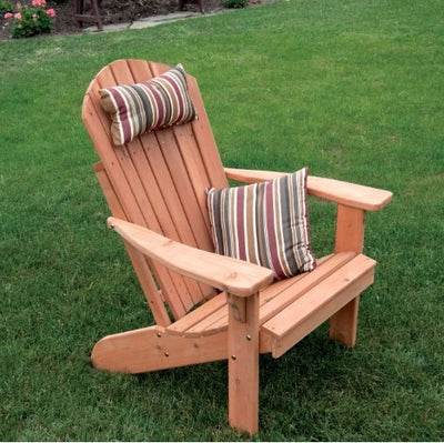 A&L Furniture Co. Amish-Made Cedar Fanback Adirondack Chair, Cedar Stain