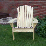A&L Furniture Amish-Made Pressure-Treated Pine Fanback Adirondack Chair, Unfinished