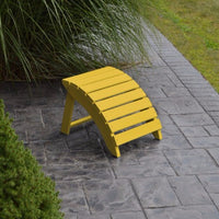 A&L Furniture Amish-Made Yellow Pine Folding Ottoman, Canary Yellow