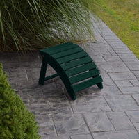 A&L Furniture Amish-Made Yellow Pine Folding Ottoman, Dark Green