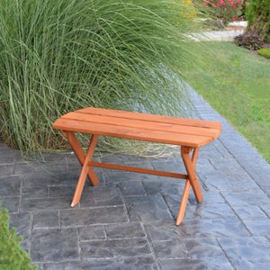 A&L Furniture Cedar Folding Coffee Table, Cedar Stain