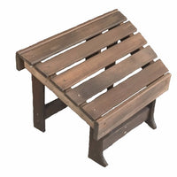 A&L Furniture Co. Amish-Made Cedar New Hope Foot Stool, Walnut Stain