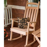 A&L Furniture Co. Amish-Made Cedar Classic Porch Rocker, Unfinished