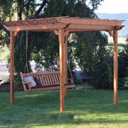 A&L Furniture Co. Amish-Made Cedar Pergola with Porch Swing, Cedar Stain