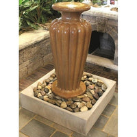 Aquascape® Patio Basin® supporting heavy concrete fountain on patio