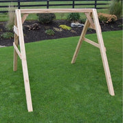 A&L Furniture Heavy Duty 4x4 Cedar A-Frame Swing Stand, Unfinished