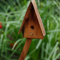 A&L Furniture Blue Mountain Series Lil' Sapling Decorative Birdhouse, Mushroom Stain