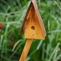 A&L Furniture Blue Mountain Series Lil' Sapling Decorative Birdhouse, Natural Stain