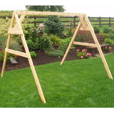 A&L Furniture A-Frame Swing Stand, Unfinished