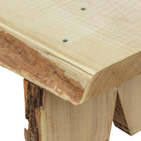 Detail view of A&L Furniture Blue Mountain Series Rustic Live Edge Briar Patch Flower Pot Bench