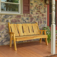 A&L Furniture Blue Mountain Series 5' Rustic Live Edge Timberland Garden Bench, Natural Stain