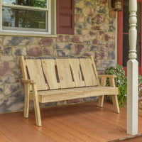 A&L Furniture Blue Mountain Series 5' Rustic Live Edge Timberland Garden Bench, Unfinished
