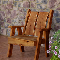 A&L Furniture Blue Mountain Series Rustic Live Edge Timberland Chair, Cedar Stain