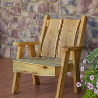 A&L Furniture Blue Mountain Series Rustic Live Edge Timberland Chair, Natural Stain