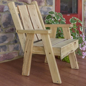 A&L Furniture Blue Mountain Series Rustic Live Edge Timberland Chair, Unfinished