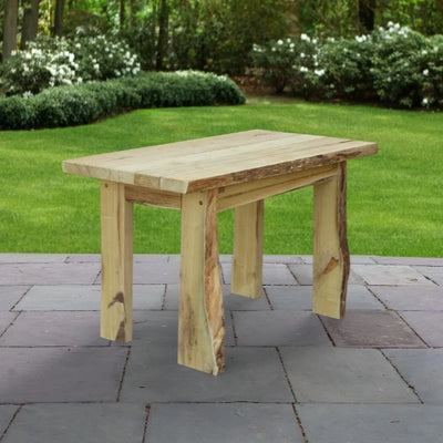 A&L Furniture Blue Mountain Series 4' Rustic Live Edge Autumnwood Picnic Table, Unfinished