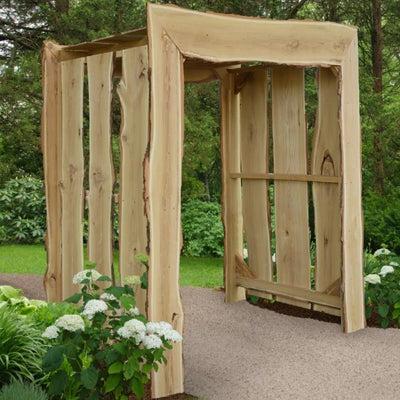 A&L Furniture Blue Mountain Series Live Edge Appalachian Arbor, Unfinished