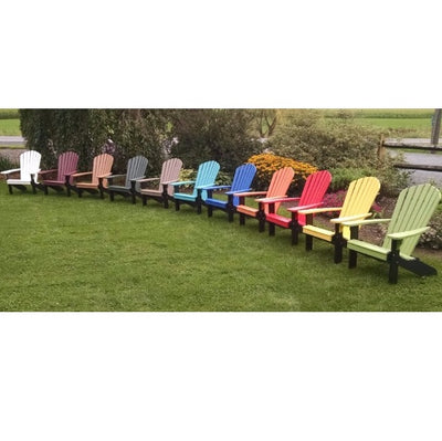 A&L Furniture Amish-Made Two-Tone Poly Adirondack Chairs with Black Frame