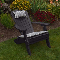 A&L Furniture Co. Amish-Made Folding/Reclining Poly Adirondack Chair, Black