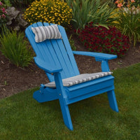 A&L Furniture Co. Amish-Made Folding/Reclining Poly Adirondack Chair, Blue