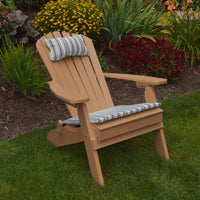 A&L Furniture Co. Amish-Made Folding/Reclining Poly Adirondack Chair, Cedar