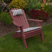 A&L Furniture Co. Amish-Made Folding/Reclining Poly Adirondack Chair, Cherrywood