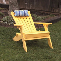 A&L Furniture Co. Amish-Made Folding/Reclining Poly Adirondack Chair, Lemon Yellow