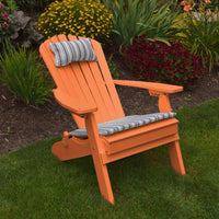 A&L Furniture Co. Amish-Made Folding/Reclining Poly Adirondack Chair, Orange