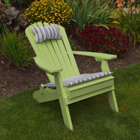 A&L Furniture Co. Amish-Made Folding/Reclining Poly Adirondack Chair, Tropical Lime