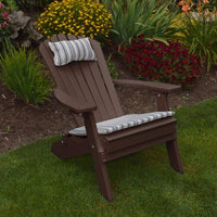 A&L Furniture Co. Amish-Made Folding/Reclining Poly Adirondack Chair, Tudor Brown