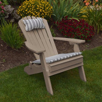 A&L Furniture Co. Amish-Made Folding/Reclining Poly Adirondack Chair, Weathered Wood